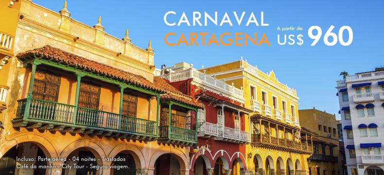 Pacote de viagem para Carnaval em Cartagena Colômbia
