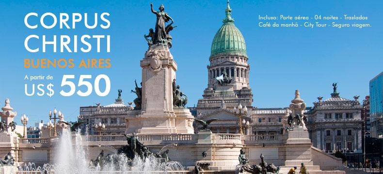Pacote de viagem para Corpus Christi em Buenos Aires 2016