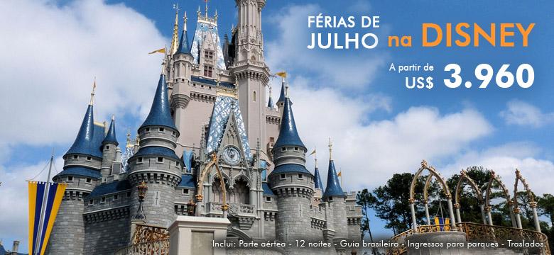 Pacotes de F�rias de Julho na Disney 2016
