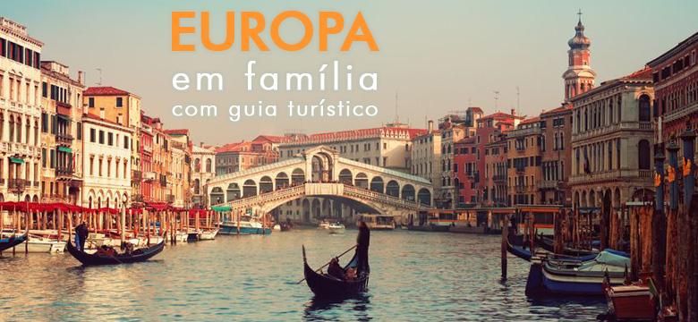 Pacote para a Europa com a fam�lia e guia em portugu�s
