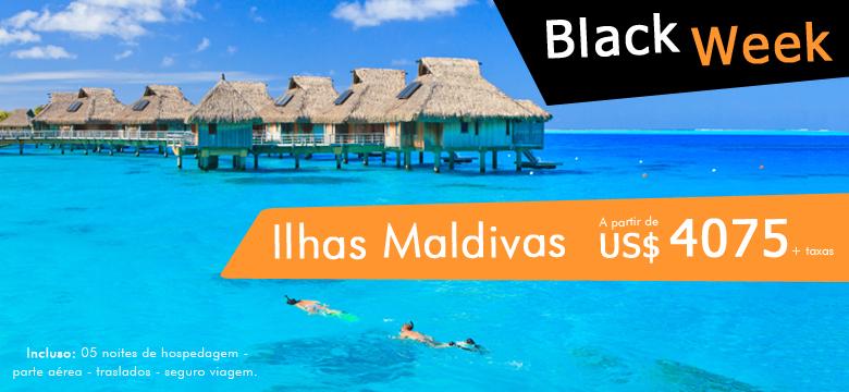 Promoção Black Week - para Ilhas Maldivas