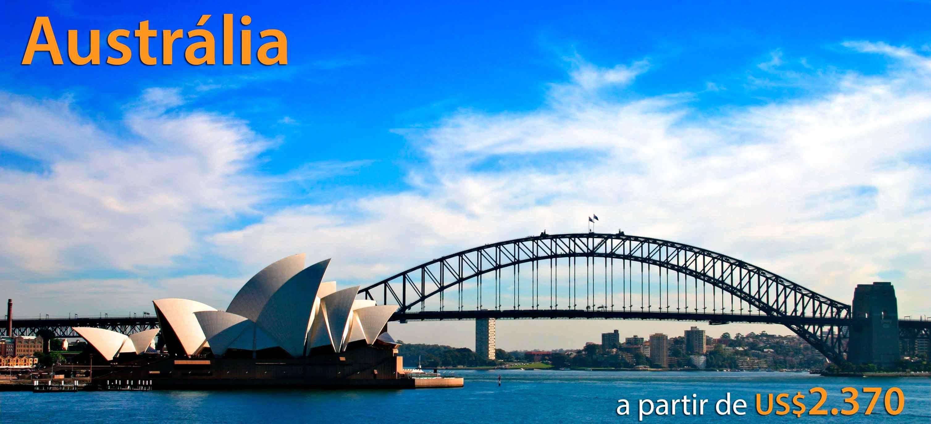 Promoção pacote viagem para Austrália