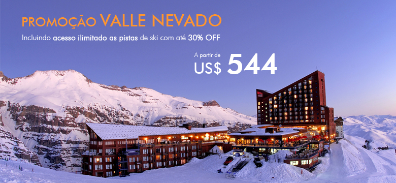 Promoção pacote de Viagem para Valle Nevado e pistas de ski