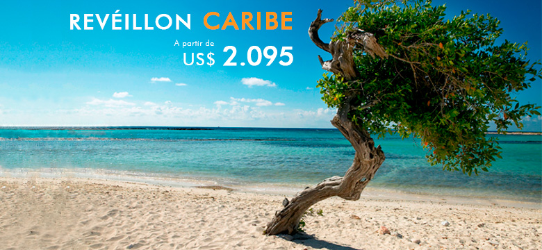 Pacote de viagem para Réveillon no Caribe