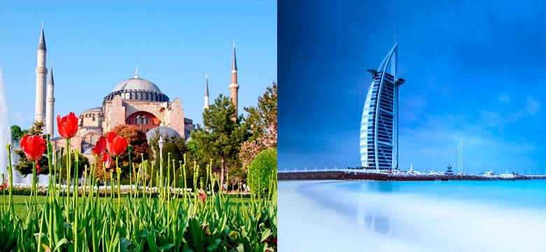 Pacote Imperdível para Istambul, Índia e Dubai com aéreo