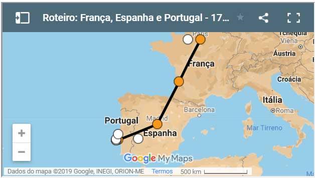 Roteiro Portugal Espanha E Franca